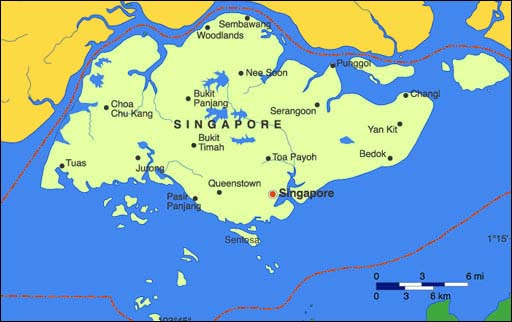 Singapore Map Map of Singapore Singapore Hotels Map